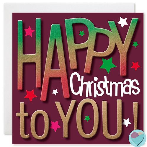 Christmas Card HAPPY CHRISTMAS TO YOU