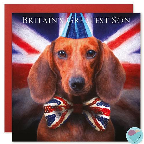 Son Birthday Card 'BRITAINS GREATEST SON'