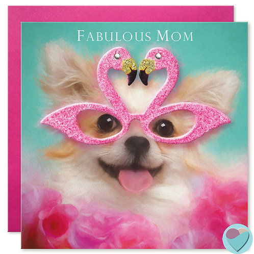 Mom Birthday Card 'ABSOLUTELY FABULOUS MOM'