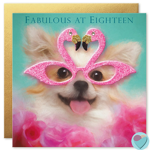 18th Birthday Card 'FABULOUS AT EIGHTEEN'