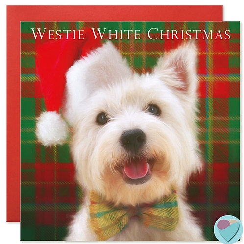 Westie Christmas Card 'WESTIE WHITE CHRISTMAS'