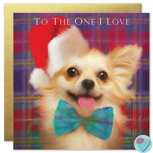 Chihuahua Christmas Card 'TO THE ONE I LOVE'