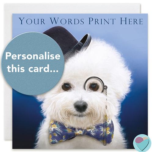 PERSONALISED Bichon Frise Birthday Card