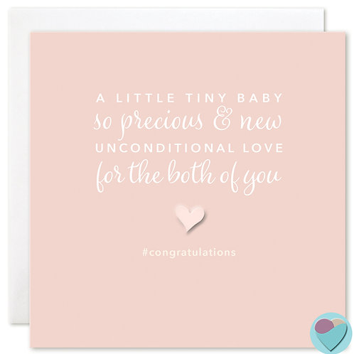 New Baby Congratulations Card 'LITTLE TINY BABY'