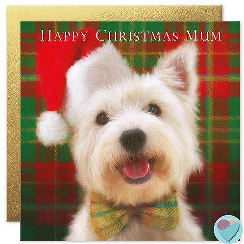 Westie Mum Christmas Card 'HAPPY CHRISTMAS MUM'