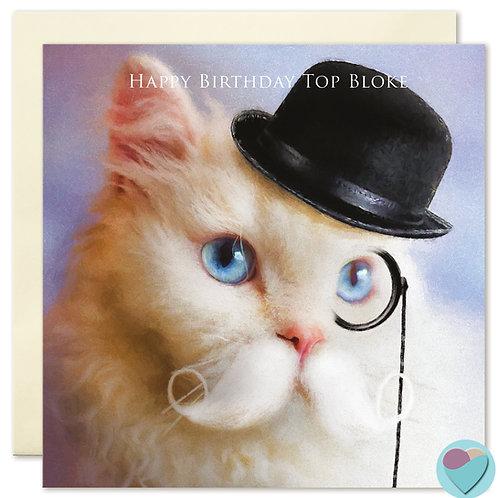 Selkirk Rex Card Happy Birthday Top Bloke