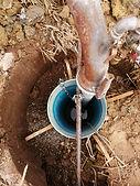 Calibrage forage en 1000 mm, tubage 400 mm.