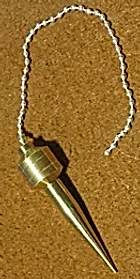 Pendule de sourcier, Pendule, Sourcier, laiton