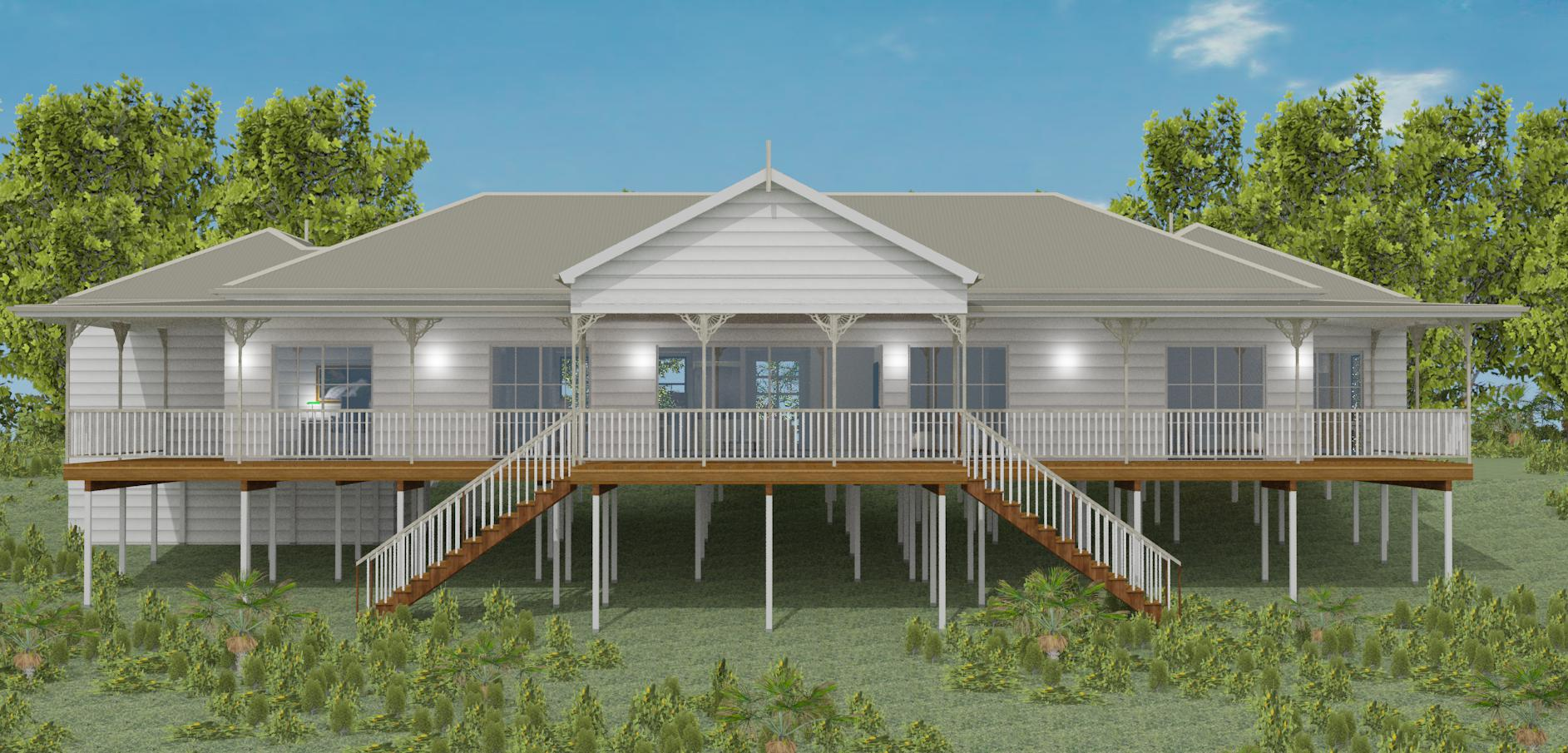 Queenslander home, pole home, raised