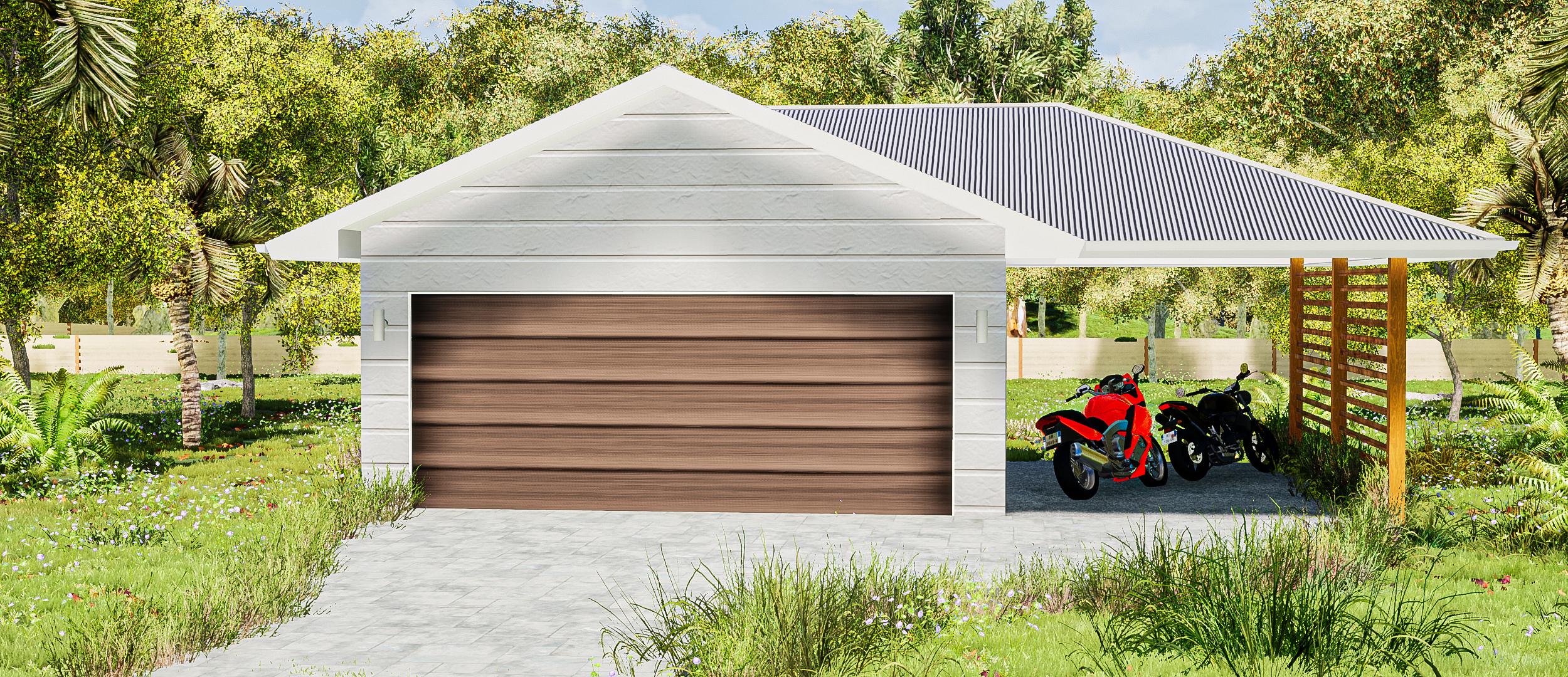6x6 + garaport front