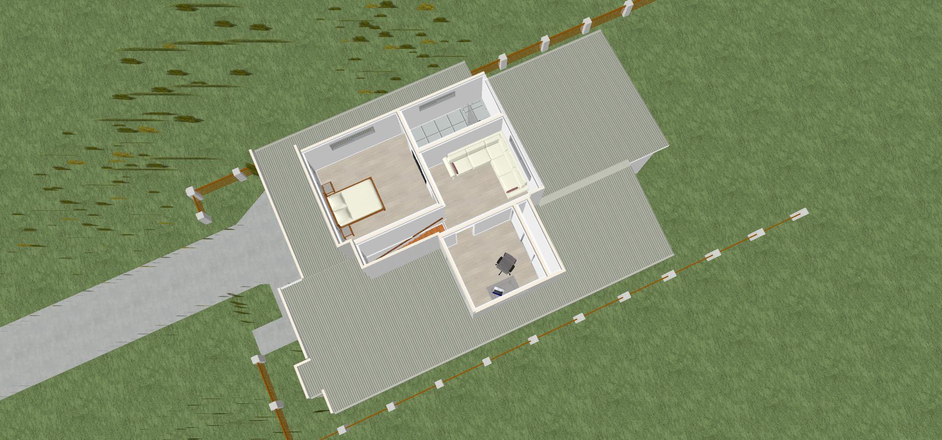 luxury home, neer 3D upper floorplan