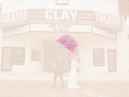 Clay Theatre | Jes + Kora | Intimate Wedding Film Teaser | Green Cove Springs, FL