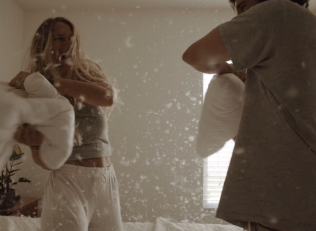 Pillow Fight In-home Session | Abbey & Brandon