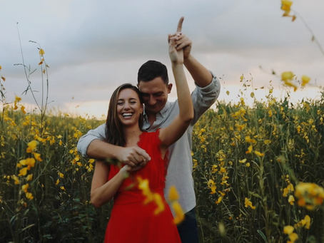 St. Augustine Engagement Video | Mallory & Ryan | Flower Field Session