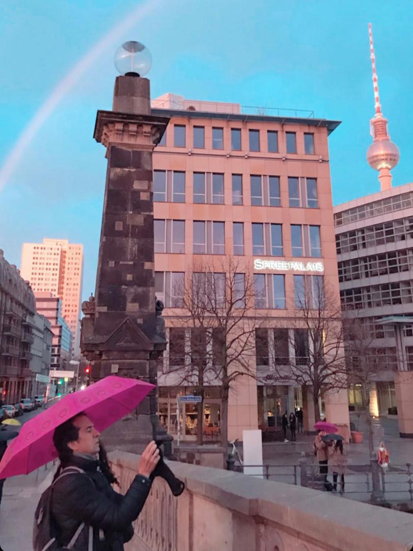 Alexanderplatz above the rainbow