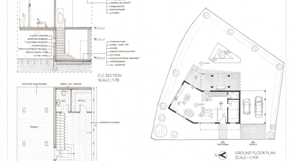 Detail and site plan poster