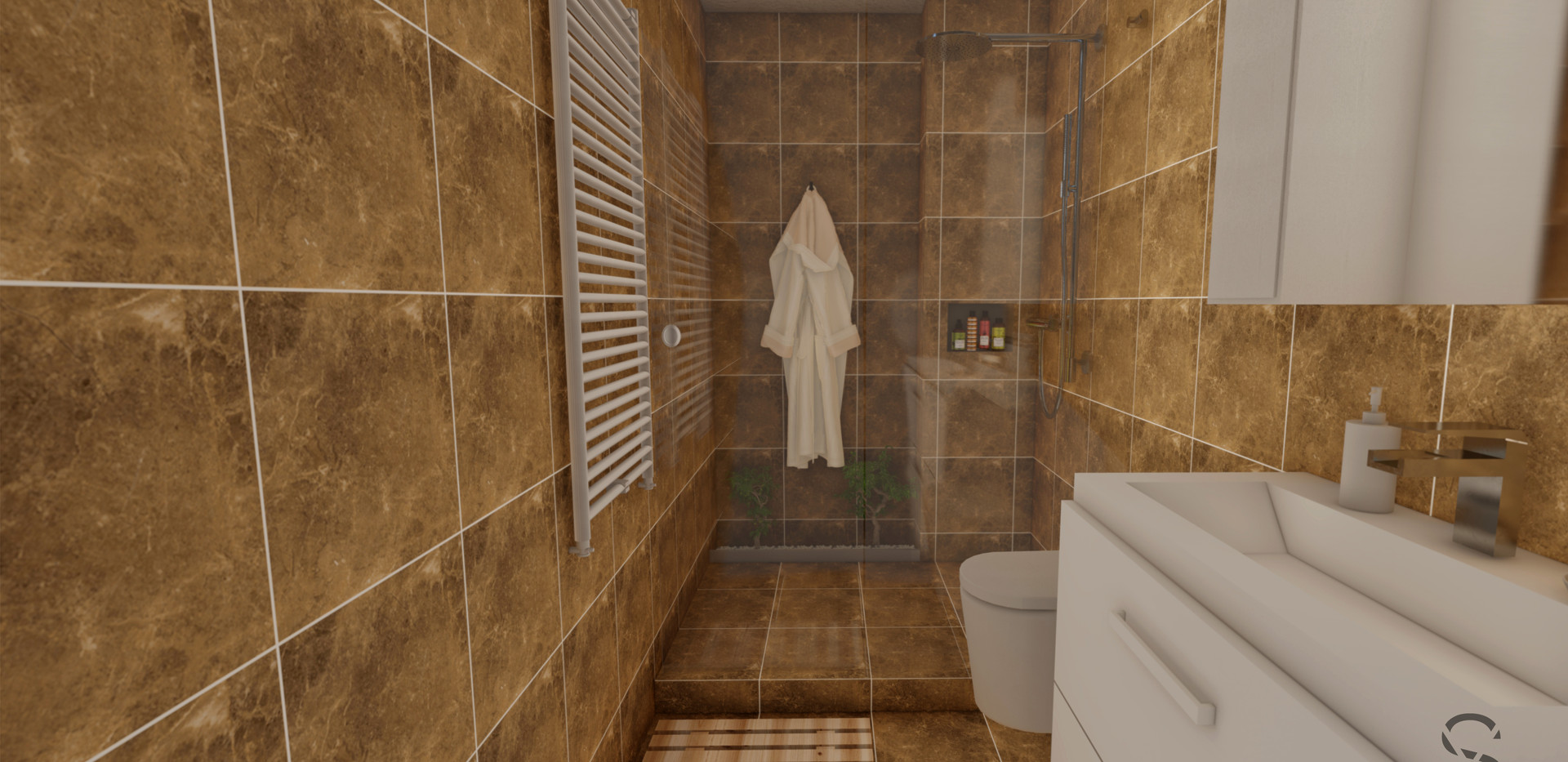 Bathroom re-organised