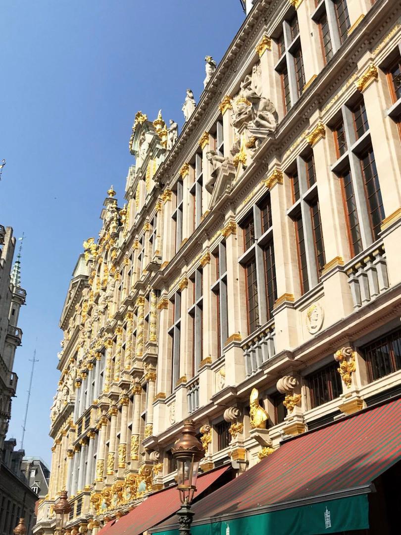 Goldish façades
