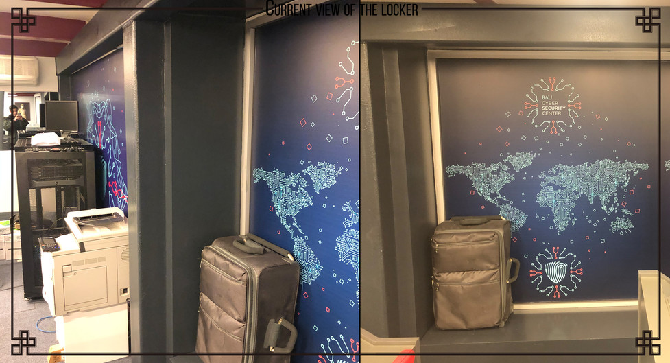 Current view of the locker space