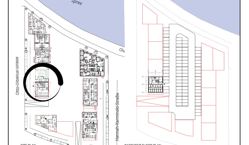 Site Plan & Basement Floor Plan