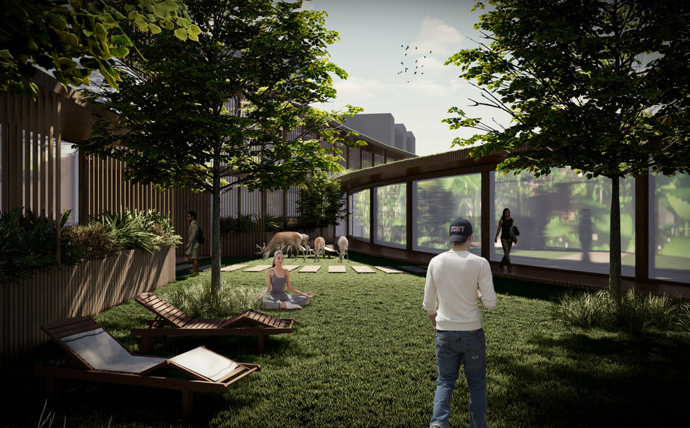 Residential private inner courtyard