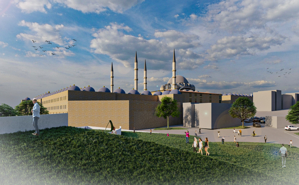 View to Suleymaniye mosque from Green Roof