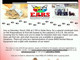 Emergency Pet Preparedness & First Aid Class