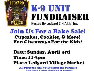 Ledyard K-9 Unit Fundraiser & Bake Sale