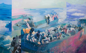 The Boats And The Sea 180x110cm 2017  (1
