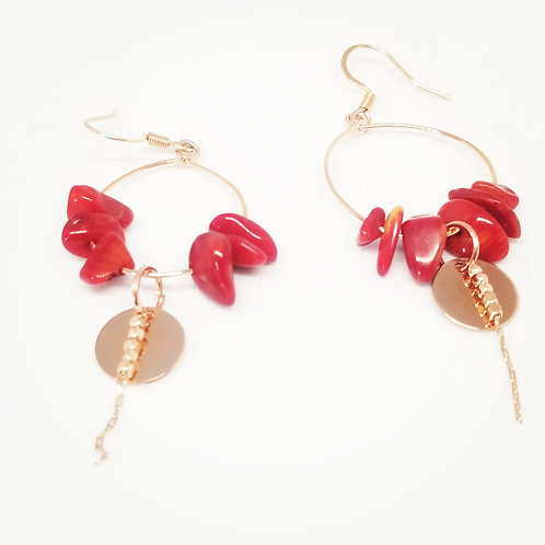 Boucles d'oreilles ... Série Rosa ...