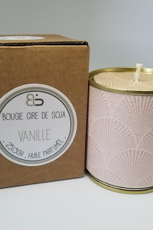 Bougie Cire végétale - parfum de Vanille - Japon rose