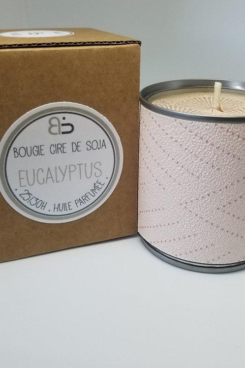 Bougie Cire végétale - parfum d'Eucalyptus - Japon rose