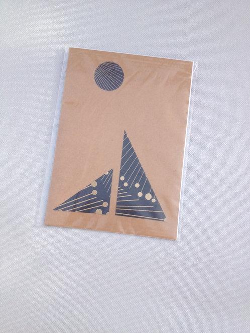 1 Carte postale Jap Motif Yamato