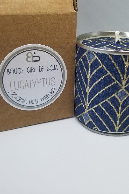 Bougie Cire végétale - parfum d'Eucalyptus - Mille & Une Nuit - bleu