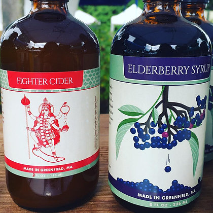 Elderberry Syrup and Fighter Cider Duo