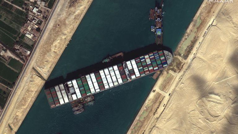 The Suez Canal jam