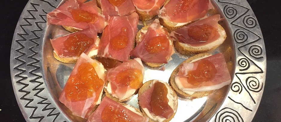 Richard's Prosciutto & Peach Toast Appetizer