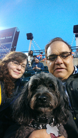 The three of us at the game