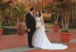 Mara and Simon on their wedding day
