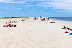 The beach is so close