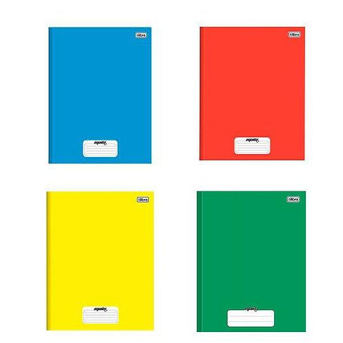 Kit 4 Caderno Brochura Capa Dura