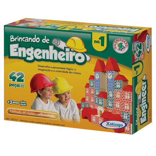 BRINCANDO DE ENGENHEIRO 42 PEÇAS