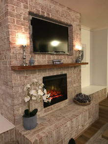 Beautiful fireplace (Premium Heritage - Cored bricks)