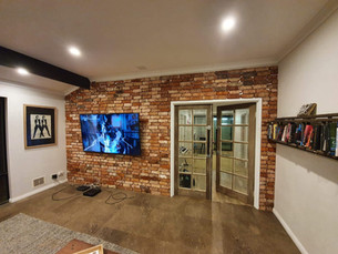 Wall cladding using our Recycled Brick Tiles