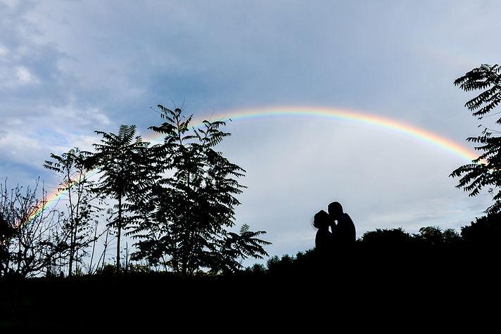 Arcobaleno il giorno del matrimonio