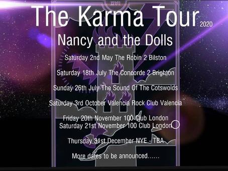 KARMA TOUR 2020 ANNOUNCED!