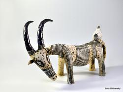 white goat sculpture
