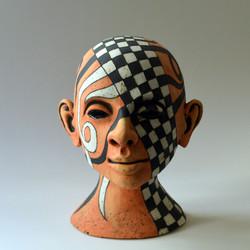 bust head clay
