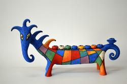 blue horse menorah