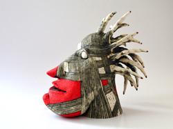 head red sculpture